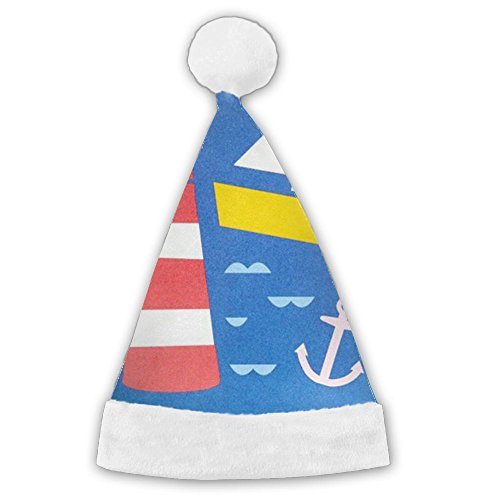 Creative Costumes Color Guard (HEURFJU Lifeguard Boat Funny Concise Cartoon For Birthday For Kids Christmas Hat Nice Festive Holiday Hat)
