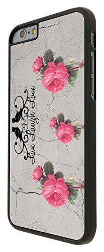 582 - Red Roses Shabby Chic Vintage Live Love Laugh Floral Roses Design iphone 6 Plus / iphone 6 Plus 5.5'' Coque Fashion Trend Case Coque Protection Cover plastique et métal - Noir