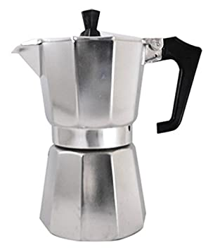 Pezzetti Stove-Top Moka Espresso Italian-Made Coffee Maker Moka Pot- 1,2,3,6,9,14 Cup (2 Cup)