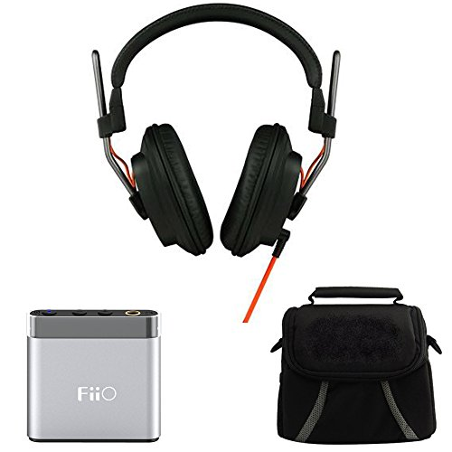 Fostex Professional Studio Headphones (T50RPMK3) with FiiO A1 Portable Headphone Amplifier Silver & Digpro Compact Deluxe Gadget Bag for Cameras/Camcorders by Beach Camera