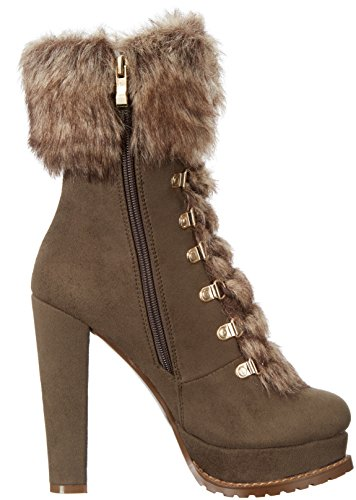 Army Bootie Luichiny Women's Di Stand Ankle xOOUwPpYq