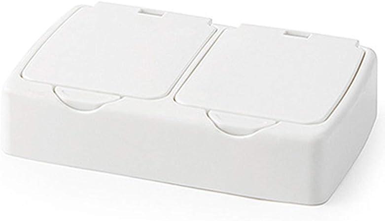 JOYKK Mini Caja de Almacenamiento emergente portátil Organizador de Maquillaje Portaobjetos pequeño Contenedor Caja de joyería - C #: Amazon.es: Hogar