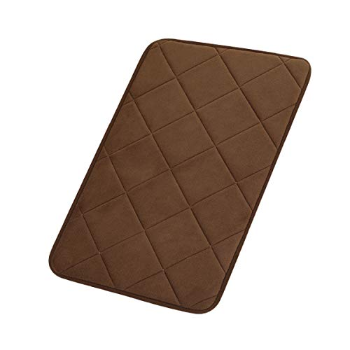 """FINDNEW Non-Slip Soft Microfiber Memory Foam Bath Mat,Toilet Bath Rug,with Anti-Skid Bottom Washable Quickly Drying Bathroom mats (16"""" X 24"""", Coffee-net) from FINDNEW"""