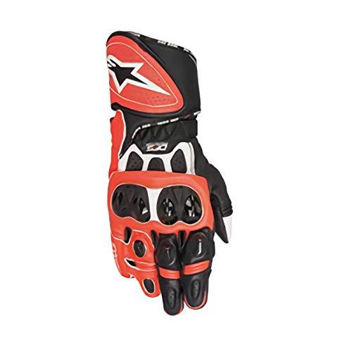 - Alpinestars GP Plus R Gloves (Medium) (White/Black/RED Fluo)