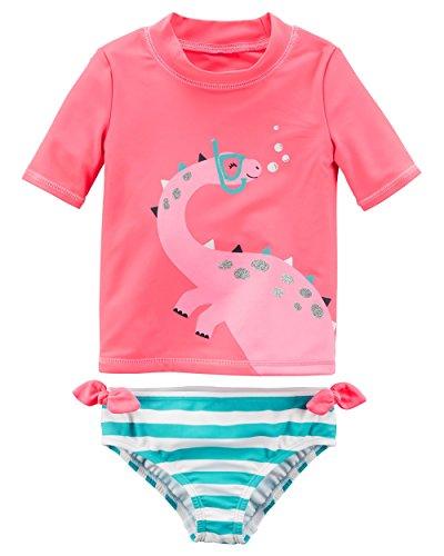 Carters Girls Short Sleeve Rash Guard Swimsuit Set (Baby/Toddler/Kid) (3 Months, ()