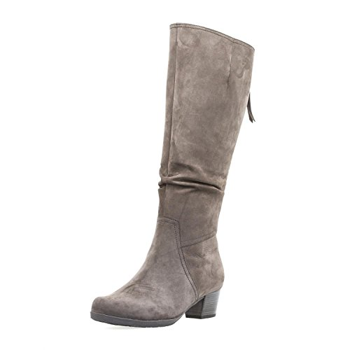 Gabor Comfort 76.639-29 Athen Scarpe Da Donna Alla Moda Stivali, Marrone, Altezza Del Tacco: 35 Mm Grigio