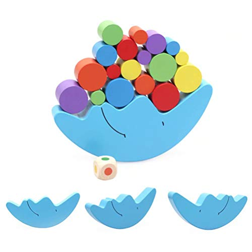Balance Frames - GUCHIS Colorful Wooden Moon Balancing Frame Montessori Toy Moon Balance Colorful Early Development Wood Blocks Early Educational Toys for Children