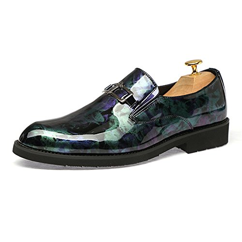 Moda da Business antiruggine in Trend da Blu Casual Metallo Uomo Pulsante con Vernice New Scarpe Color Cricket Scarpe in Oxford Matching Metallo qrwHrTI