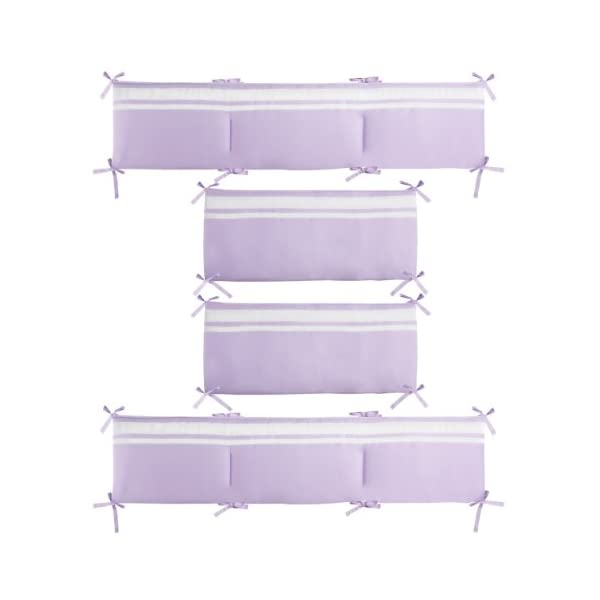 CoCaLo Mix & Match Grosgrain Ribbon Reversible Bumper, Violet