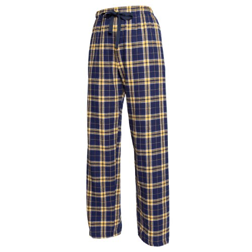 Boxercraft-Fashion Flannel Pant-F19 - Navy/Gold - (Gold Flannel)