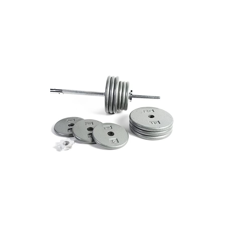 .CAP Barbell Standard 1 Inch Barbell Weight Set,