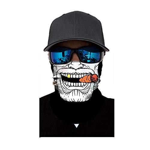 Sunshinehomely Halloween Zombie Pumpkin Print Headkerchief, Cycling Motorcycle Neck Tube Ski Scarf Face Mask Balaclava Halloween Party -