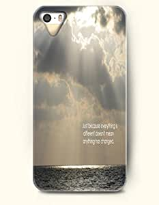 iPhone 4 4S Case OOFIT Phone Hard Case **NEW** Case with Design Just Because Everything Is Different Doesn'T Mean Anything Has Changed.- Proverbs Of Life - Case for Apple iPhone 4/4s