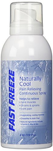 Fast Freeze All-Natural Cooling Pain Relief Therapy: Continuous Spray, 4 fl oz, packaging may vary