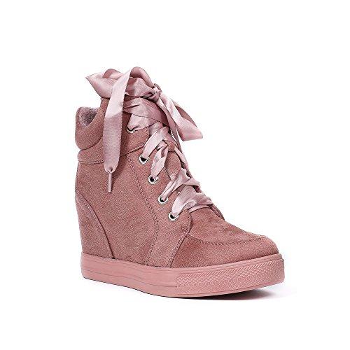 Ruban Satinés Gladys Daim Effet Shoes Compensées Ideal Lacets avec Baskets q8z0Ixw1