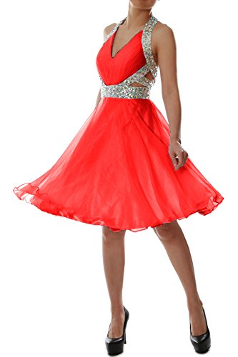 Rot Dress Halter Prom V Gown Party Short MACloth Homecoming Elegant neck Formal WTBTnP