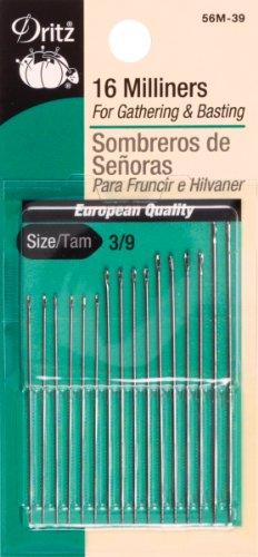 Dritz 16-Piece Milliners Hand Needles, Size 3/9 - Milliners Hand Needles