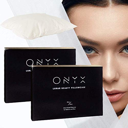 ONYX Anti Aging Silver IONS X 2 Smart Pillowcase Beauty Technology Forever Young Active Reduce Wrinkles,Migraine,Improve Face Radiance, Antibacterial, Prevents Hair Loss