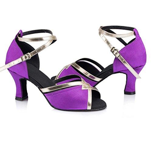 misu - Zapatillas de danza para mujer Negro negro morado
