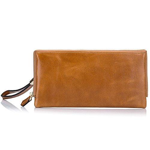 Women's Men Handbag Zip Leather Long Purse Unisex Wallet Card Phone Holder