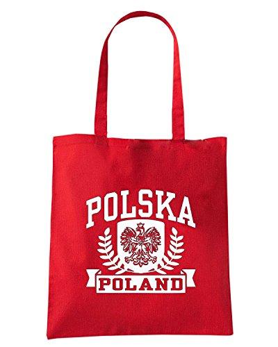 T-Shirtshock - Bolsa para la compra TSTEM0240 polska 1 poland mens Rojo