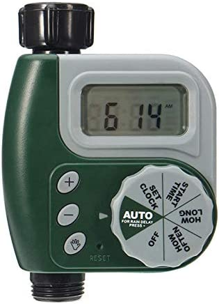 Wanz Kunststoff programmierbare automatische Gartenbewässerung Timer Bewässerungsregler Kunststoff programmierbare automatische elektronische Hausschlauch, grün