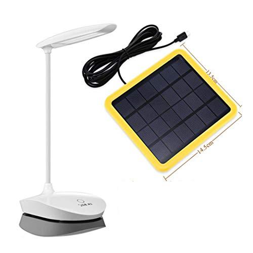 (KK.BOL Solar Desk Lamp Three Levels Dimmable Led Table Lamp for Reading Bedside Light Night Light)