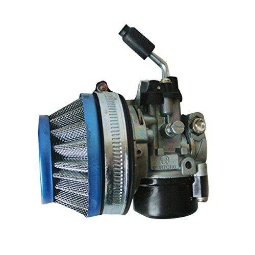 [해외]49cc 60cc 80cc 용 새로운 60mm 에어 필터 2 사이클 오토바이 용 자전거 기화기 블루/New 60mm Air Filter For 49cc 60cc 80cc 2 Cycle Motorized Bicycle
