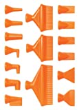 Loc-Line Coolant Hose Component, Acetal Copolymer, 16 Piece Nozzle Rama Set, 1/4'' Hose ID