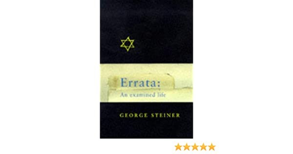 Errata: An Examined Life: A Life in Ideas (Master Minds)