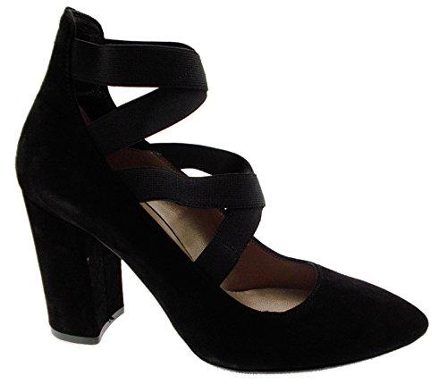 Decolt Femmes E5044 MELLUSO en Daim Noir pour Chaussures élastiques Sangles 5Sqwq7
