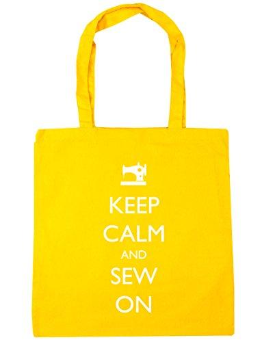 Gym Sew Yellow Tote Calm x38cm Beach litres 42cm Shopping HippoWarehouse and On 10 Keep Bag Z0xwa