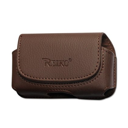Reiko Horizontal Pouch for Blackberry 8300 - Retail Packaging - Brown