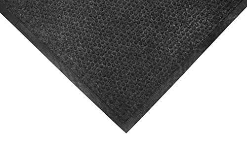 (M+A Matting 883 Grease Hog Polypropylene Fabric Indoor/Wiper Scraper Floor Mat, Nitrile Rubber Backing, 5' Length x 3' Width, 1/4