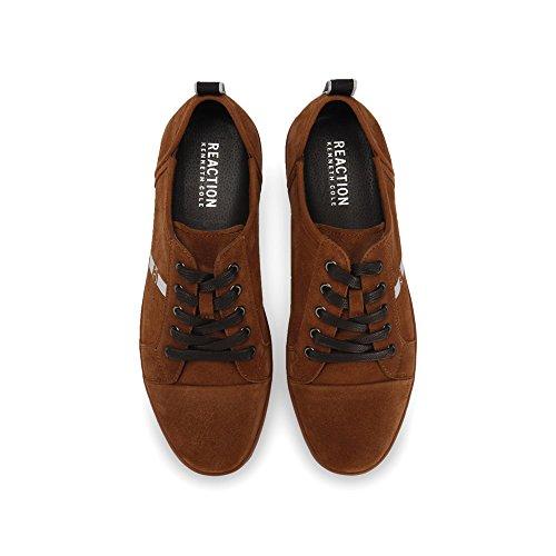 Kenneth Cole Reazione Mens Centro Basso Sneaker Tabacco