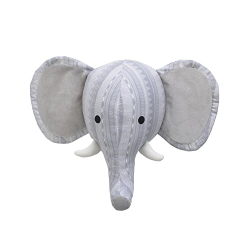 NoJo Head Printed Wall Decor, Grey/White/Elephant