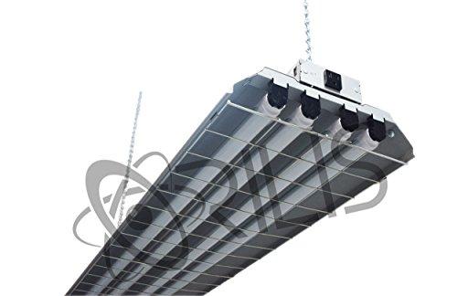 Grey 4 Ft 96 Watt Heavy Duty High Bay Hanging 4 Light