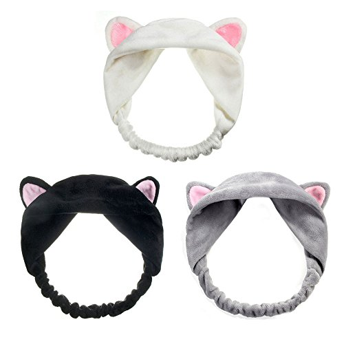 ONEGenug 3pcs Cute Cat Ears Headband Lovely Etti Hair Band Head Wrap Woman Girl Kids Hair Accessary ()