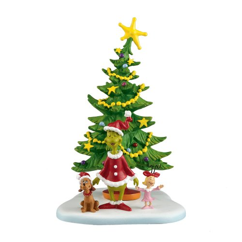 Department 56 Grinch Villages Welcome Christmas Day Accessory Figurine, 5.625 inch - Accessory Collectible Village
