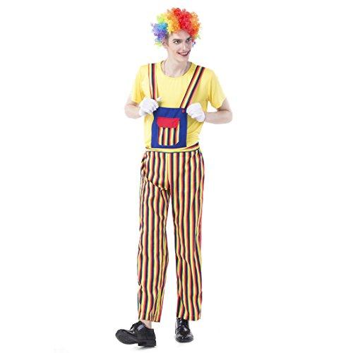 Slocyclub Circus Clown Costume Rainbow Stripe Overalls for (Clown Overalls Costume)