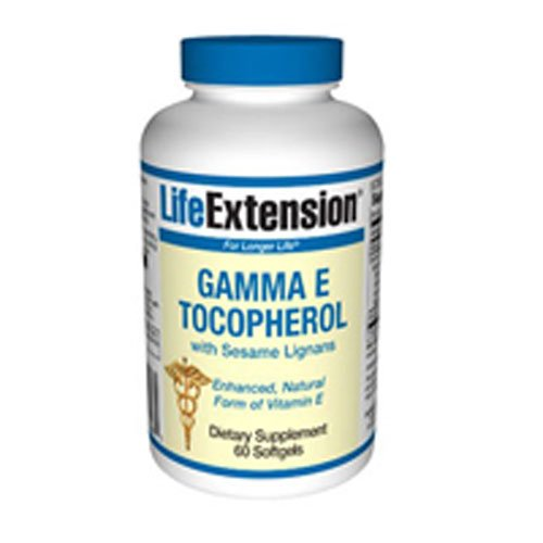 Life Extension - Gamma E Tocopherol With Sesame Lignans - 60 Gels (Pack of 2)