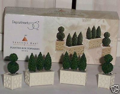 Department 56 Seasons Bay Planter Box Topiaries