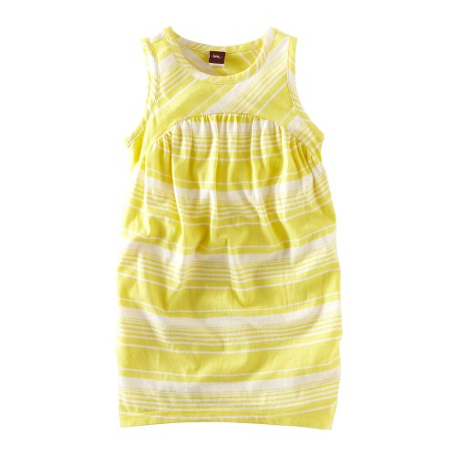 Tea Collection Baby Girls' Kangin Stripe Playdress, Peacock, Small