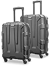 Samsonite Centric Hardside Expandable Luggage with Spinner Wheels, Black, 2-Piece Set (20/24)