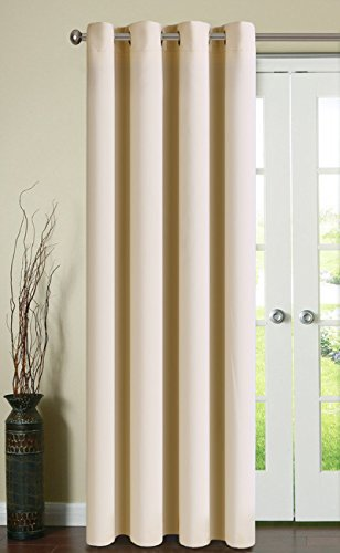 Fairyland Thermal Insulated Window Curtains for Living Room,1 Panel,52*84 inch,Beige - Free Time Full Panel