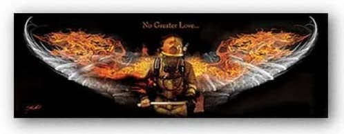 Firefighter by Jason Bullard Print 36x12