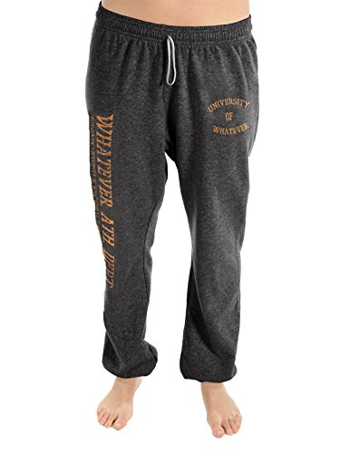 University of Whatever Women New Unest jogger pants - Long leg and deep ribbed waistband (Charcoal, M)