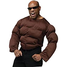 UHC Men's African American Muscle Chest Funny Theme Adult Halloween Costume