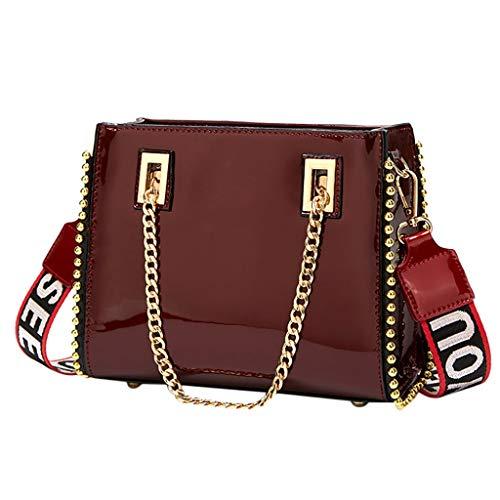 LiLi Meng Fashion Women's Patent Leather Sequin Solid Chain Handbag Bag Messenger Bag Mobile Phone Bag