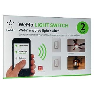 WeMo Wi-Fi Enabled Light Switch Smartphone Controlled (2 Pack) (B00KJO3Z8G) | Amazon price tracker / tracking, Amazon price history charts, Amazon price watches, Amazon price drop alerts